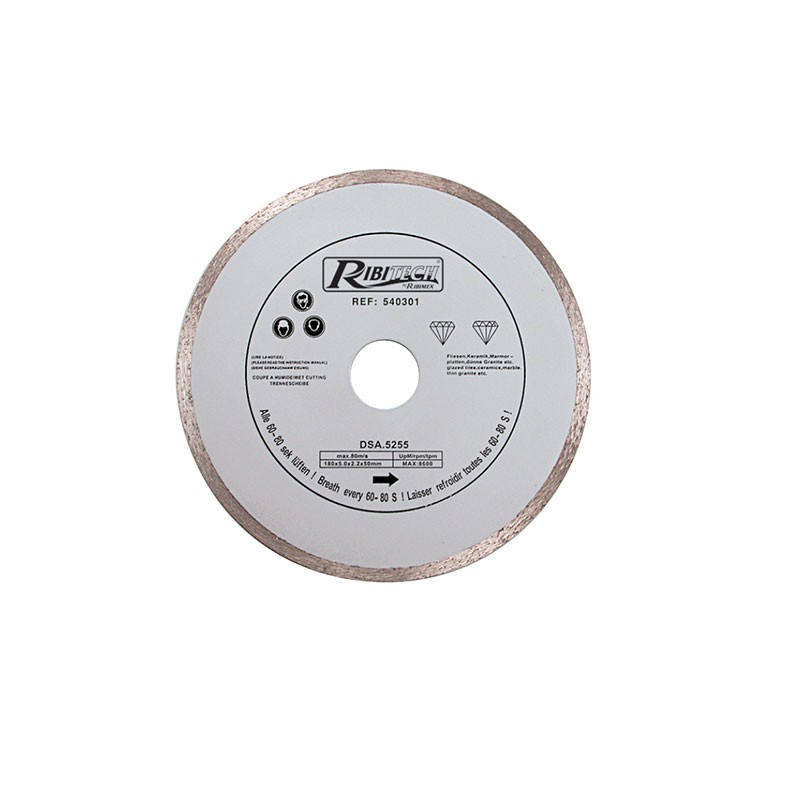 Continuous Diamond Disc 180mm Wet Ale.30 + Adapt.25,4/22,2 - Ribitech
