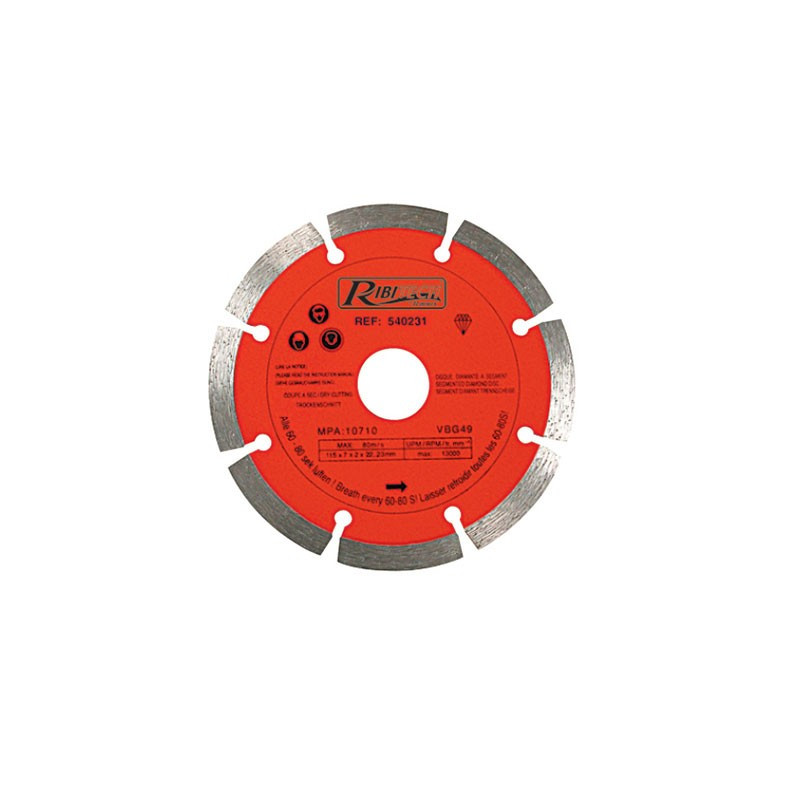 Diamond Disc Segment 125mm Class C Double Blister - Ribitech