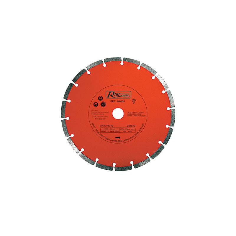 Diamond Disc Segment 230mm Class C - Ribitech