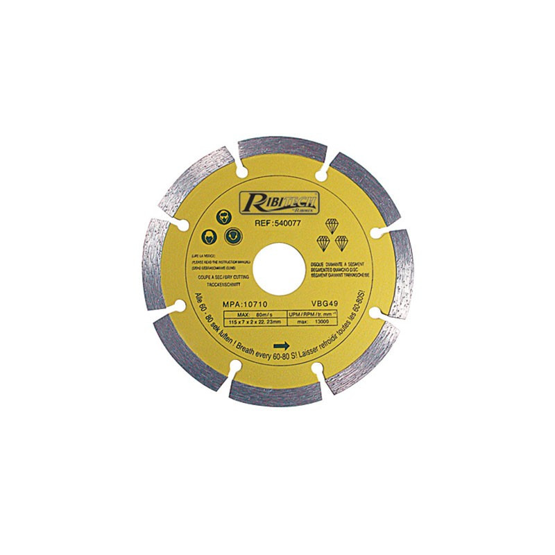 Diamond Disc Segment 125mm Class-A - Ribitech