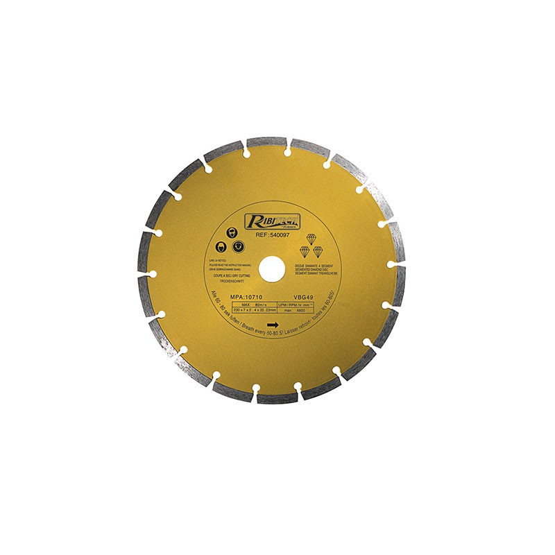Diamond Disc Segment 230mm Class-A - Ribitech