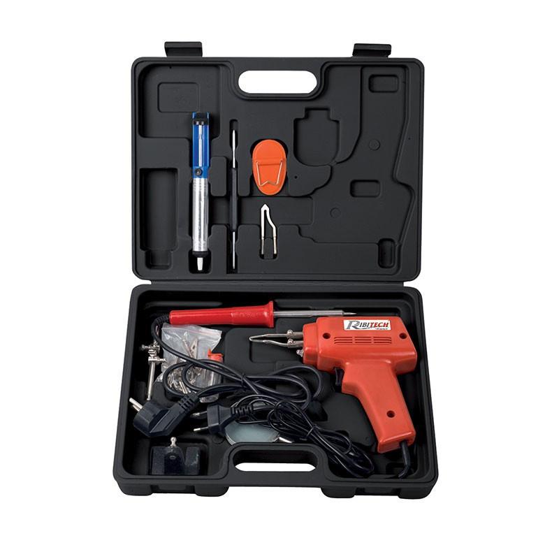 Iron box + soldering gun + accessories - Ribitech