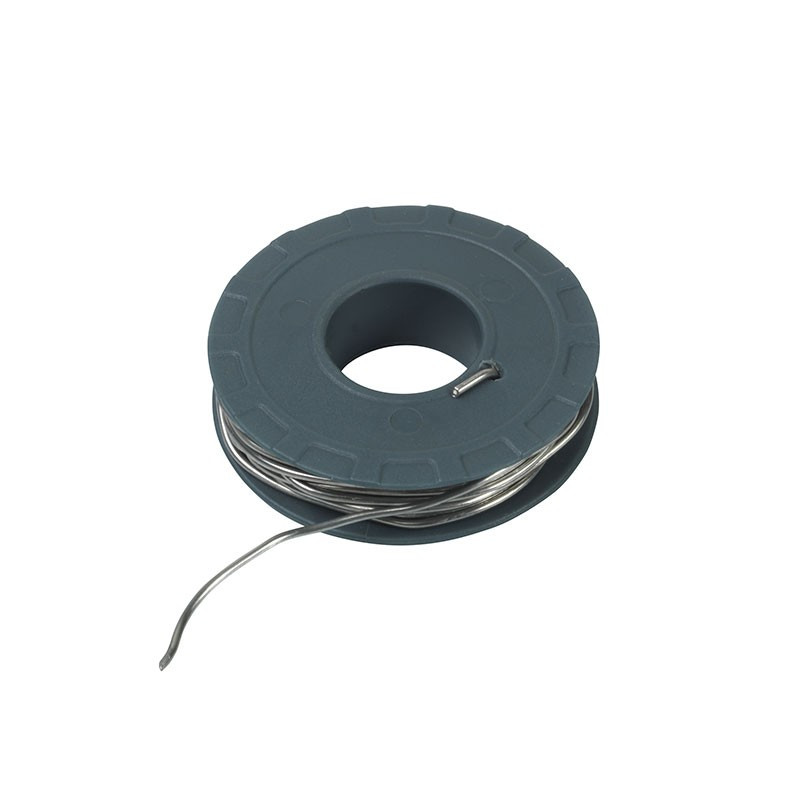 tin wire in coil of 100g diam.1,5mm long 7,5m approximately - Ribitech