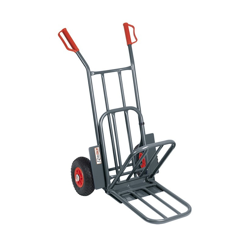 250kgs trolley with puncture-proof wheels - foldable bib - Ribitech