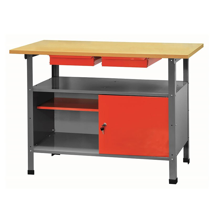 Metal workbench with wooden top - Ribitech