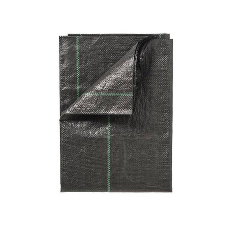 Nature -Black woven pp landscape mulching fabric. 100 g/m² - 120x120 cm - Nature