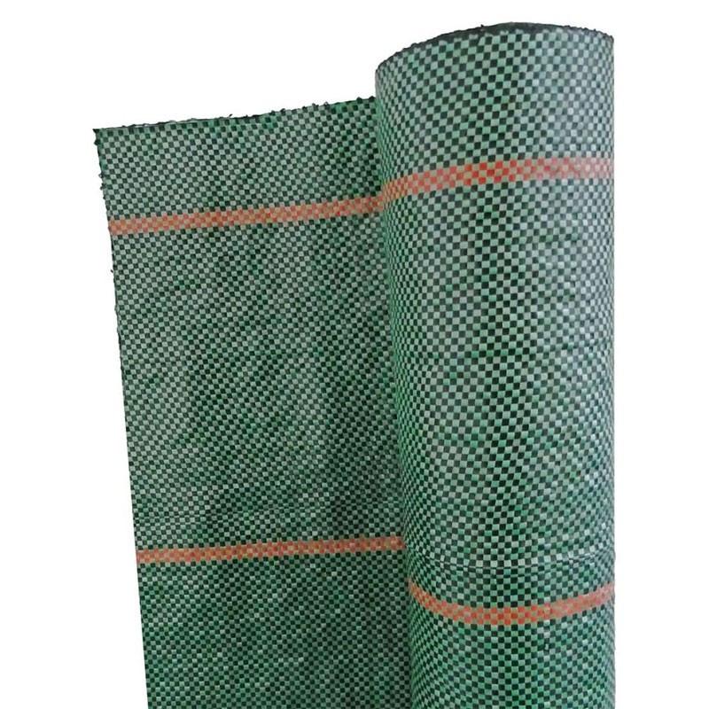 Green landscape mulching fabric, UV resistant 90g/m² 25m - Nature