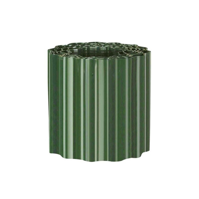 Green PVC lawn edging h15cm X 9m - Nature