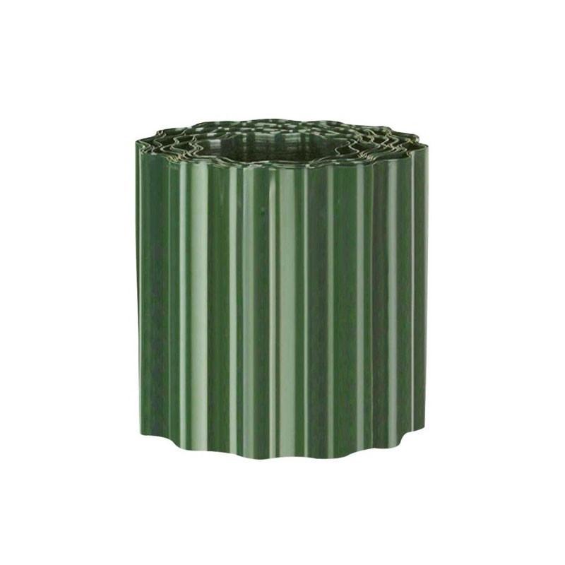Green PVC lawn edging h25cm X 9m - Nature