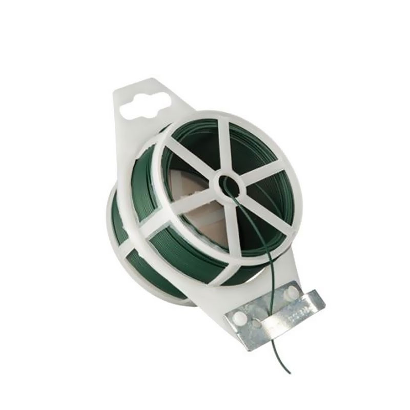 Green plastic-coated wire - Diameter 1.2 mm x 50 m - Nature