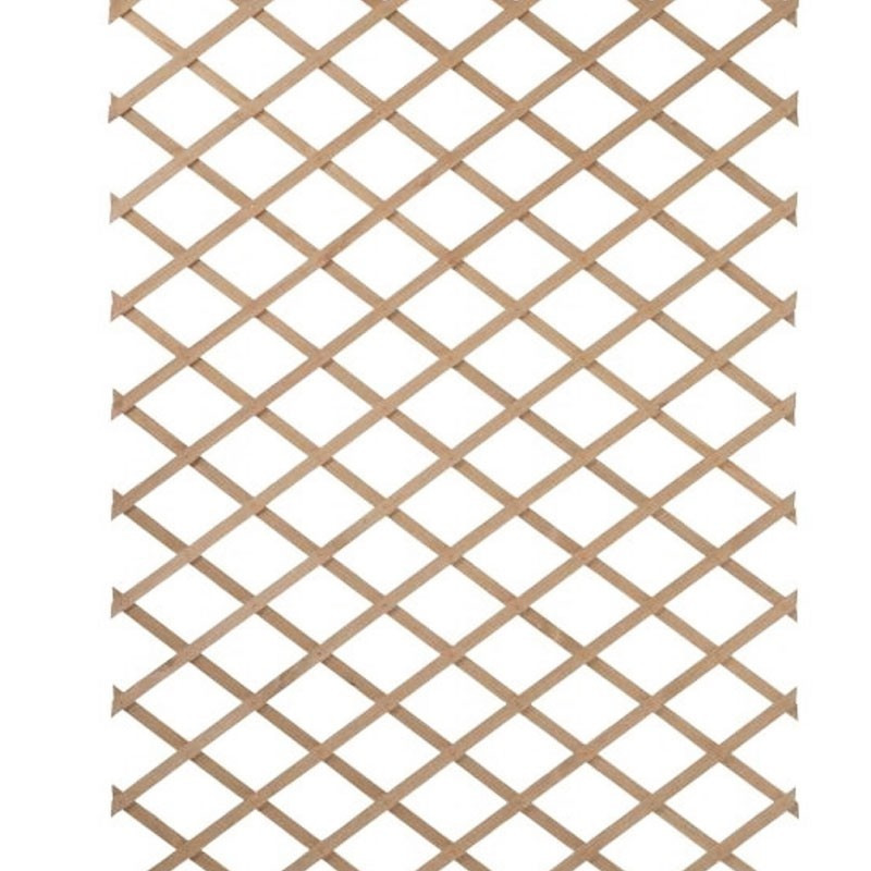 Expandable lattice in natural wood - 50x150cm - Nature