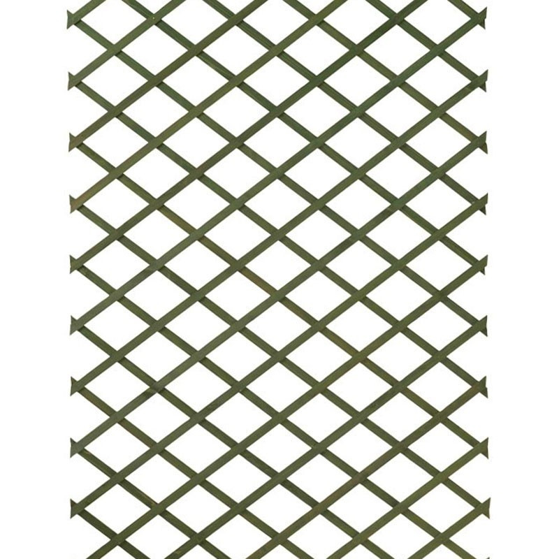 Stretchable green natural wood trellis - 1x3m - Nature