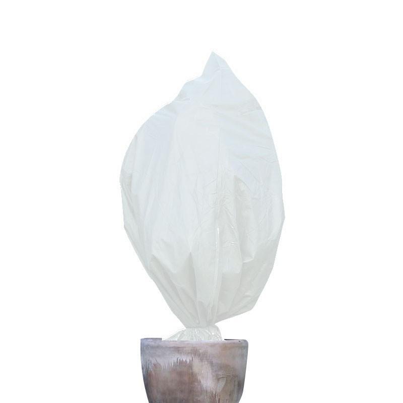 Nature -Set of 3 winterizing covers with drawstring - White - 100 x 80 cm - Diameter 50 cm - Nature