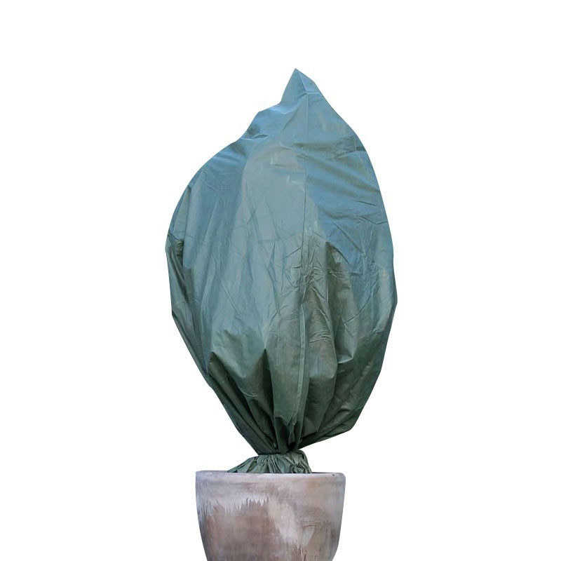Nature -Wintering cover with drawstring - Green -150 x 157 cm - Diameter 100 cm - Nature