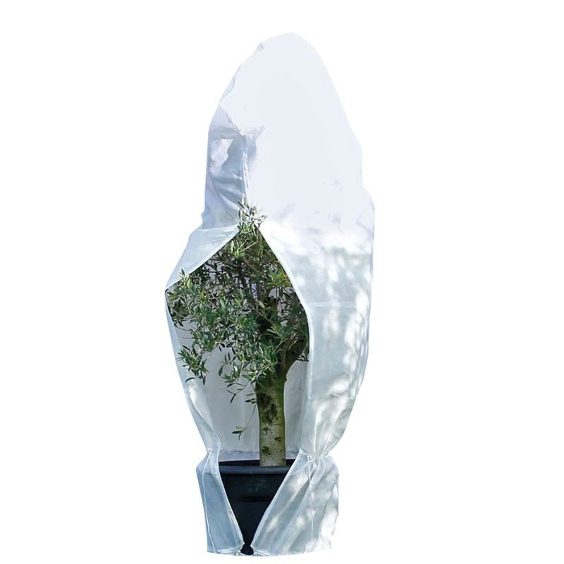 Wintering cover with drawstring - White - 300 x 393 cm - Diameter 250 cm - Nature