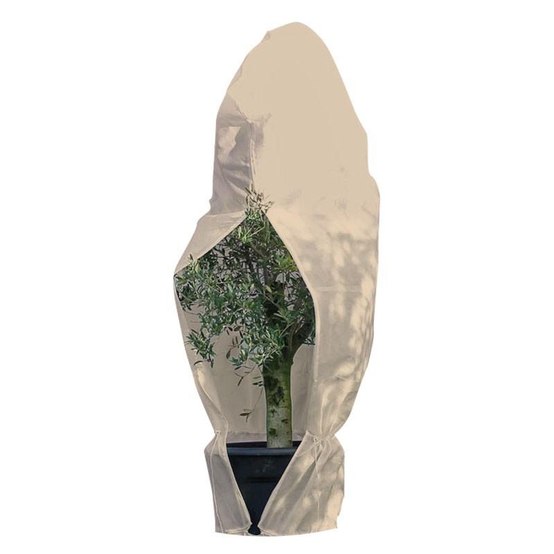 Wintering cover with drawstring - Beige - 300 x 393 cm - Diameter 250 cm - Nature