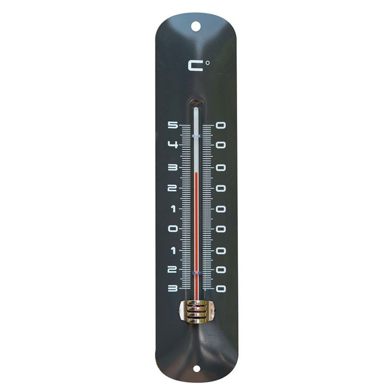 Epoxy exterior metal wall thermometer - Anthracite H 30 X 6.5 X 1 cm - Nature
