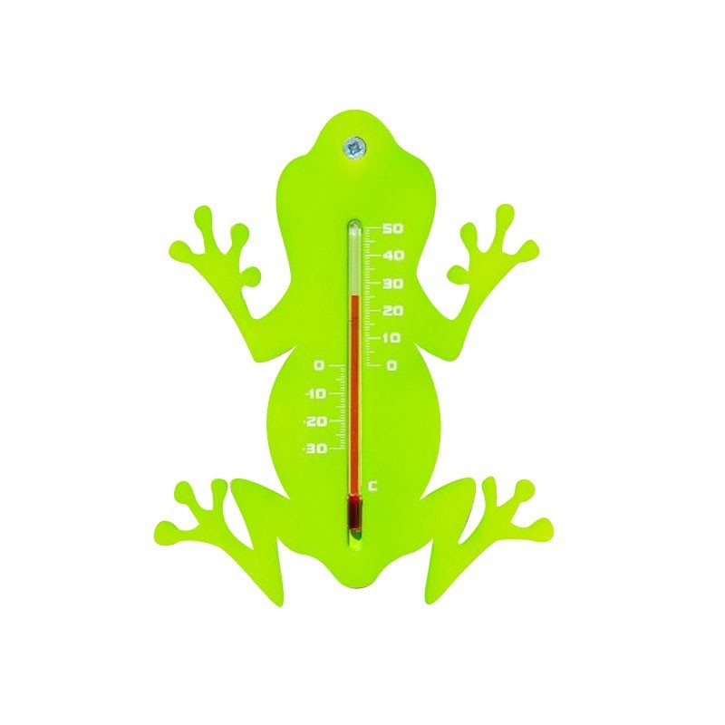 Outdoor wall thermometer in plastic - Frog - H 15 X 11 X 0.3 cm - Nature