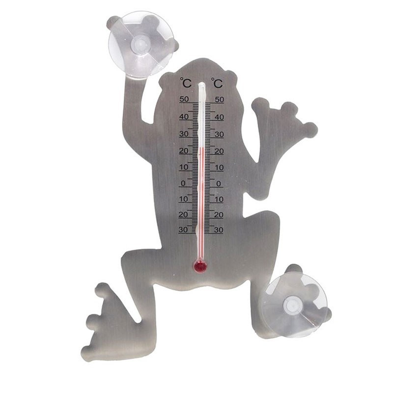 Outdoor metal thermometer - Suction cup frog - H 16 X 12 X 1 cm - Nature