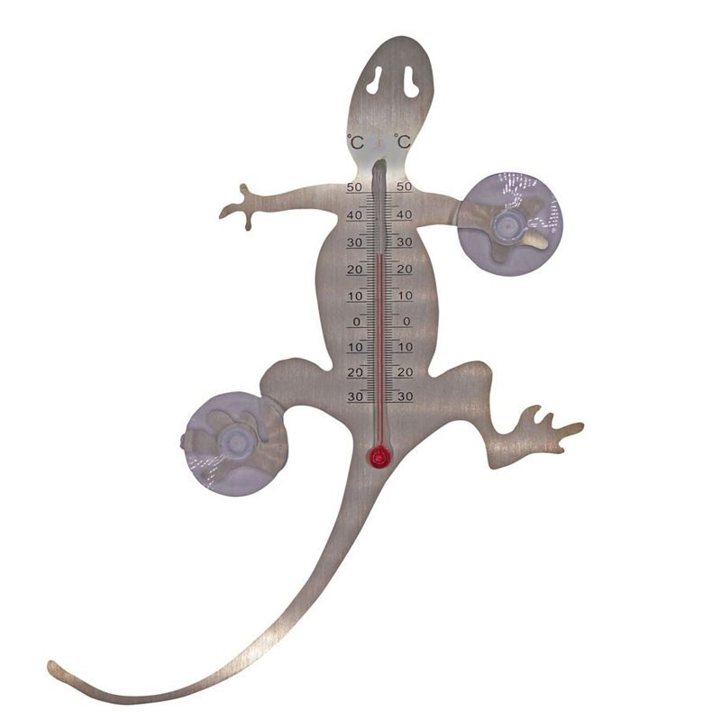 Outdoor metal thermometer - Suction cup salamander20 X 16 X 1 cm - Nature