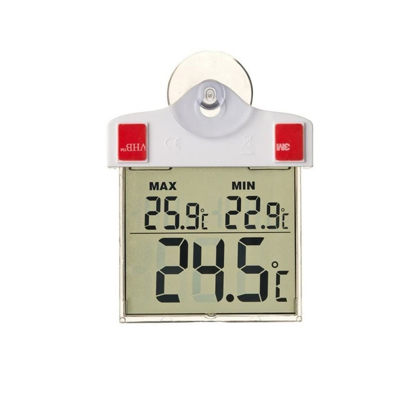 Thermometer mini max digital suction cup H 17cm - Nature