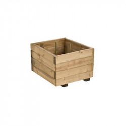 Bac Bois RUSTICA Pot carré 40x40x27cm - Forest-Style
