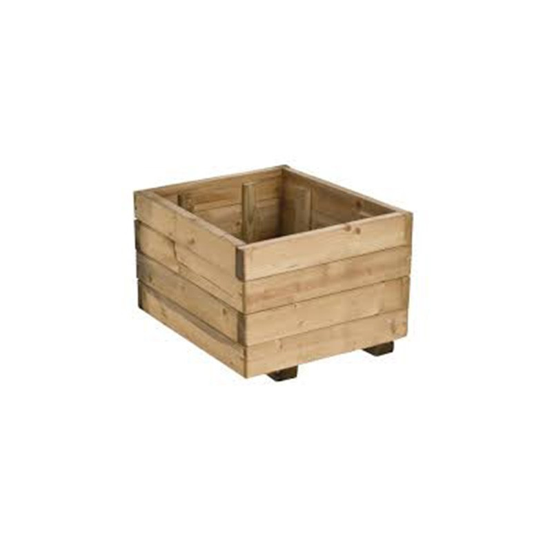 Wooden Tray RUSTICA Square Pot 40x40x27cm - Forest-Style