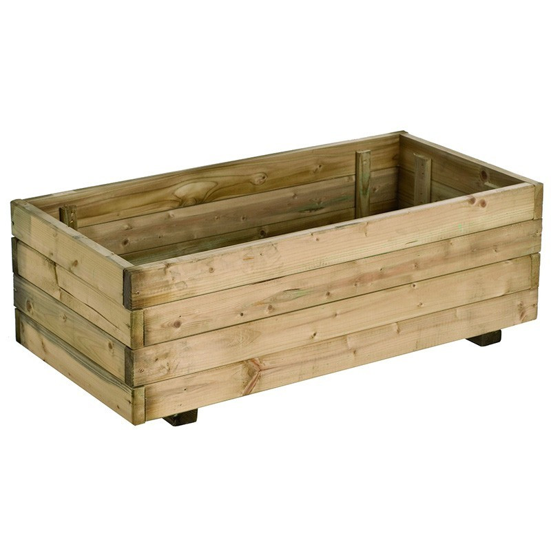Wooden Tray RUSTICA pot RECTANGLE 80x40x27cm - Forest-Style
