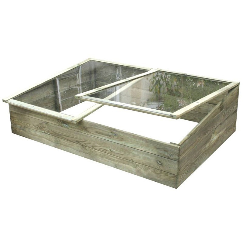 WOODEN GREENHOUSE 120X90X26/34CM - Forest-Style