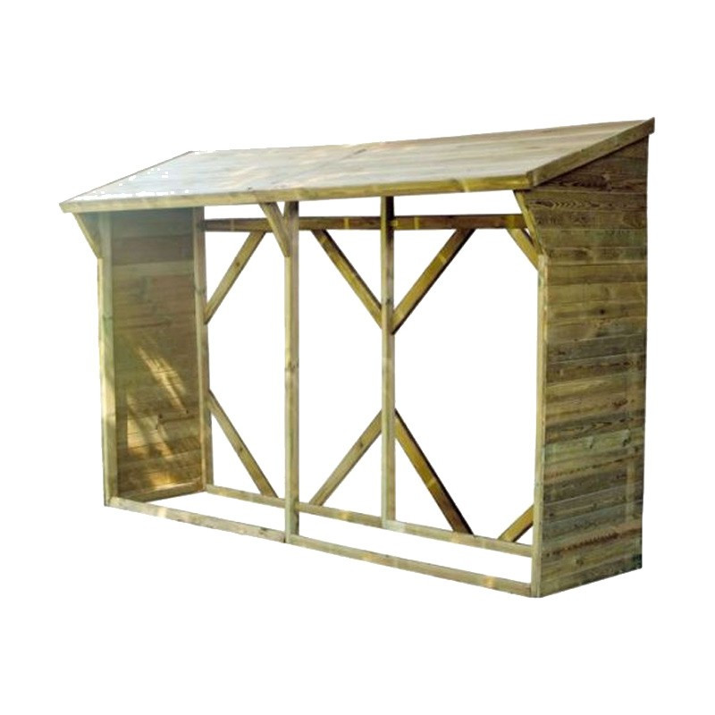 Wooden shelter MEMPHIS XL 7 STERES - 3200 x 1000 mm - Madeira