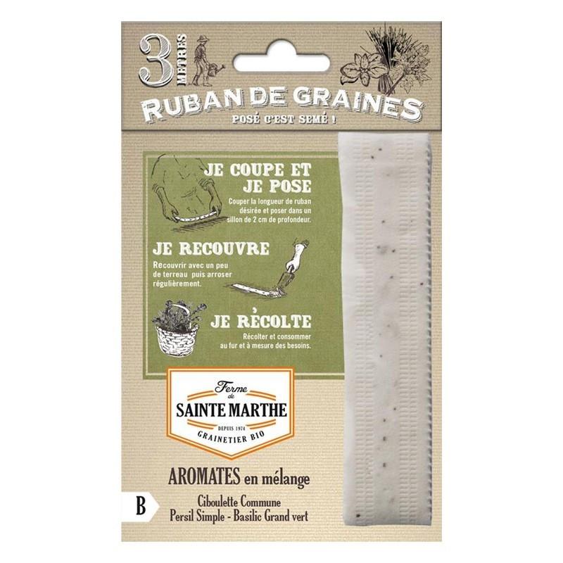 <x>La ferme Sainte Marthe</x> - Ribbon of 150 mixed aromatic seeds