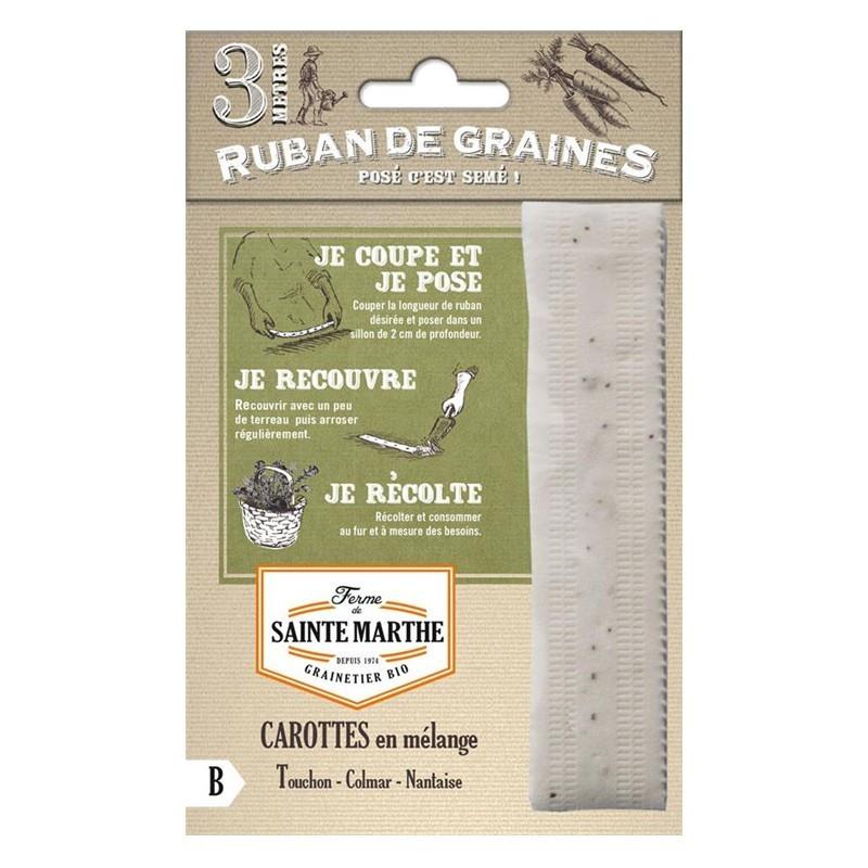<x>La ferme Sainte Marthe</x> - Ribbon of 200 seeds Mixed carrot