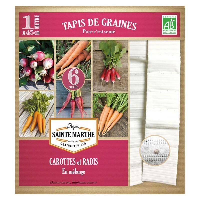 <x>La ferme Sainte Marthe</x> - Carrot and Radish Mixed Carrot and Radish Carpet on 6 Rows