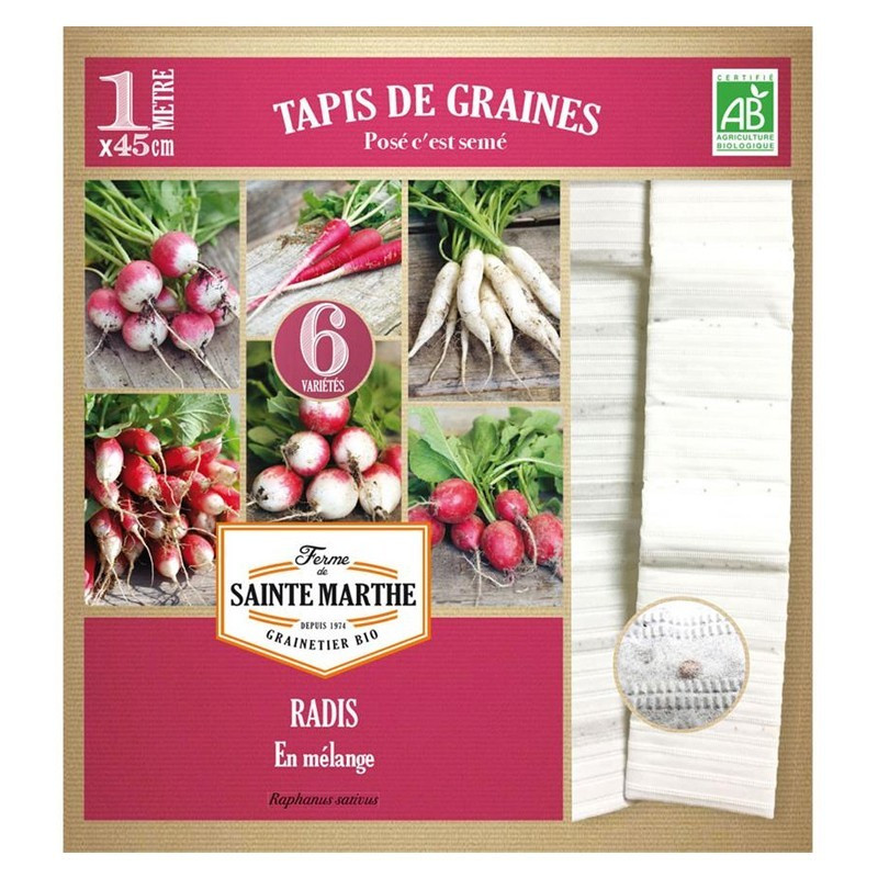 <x>La ferme Sainte Marthe</x> - Mixed radish mats on 6 Rows