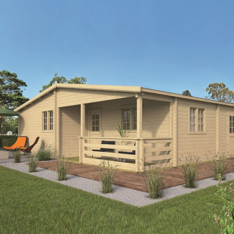 Chalet Azores 76,3 m² - Thickness 70mm - Tuindeco