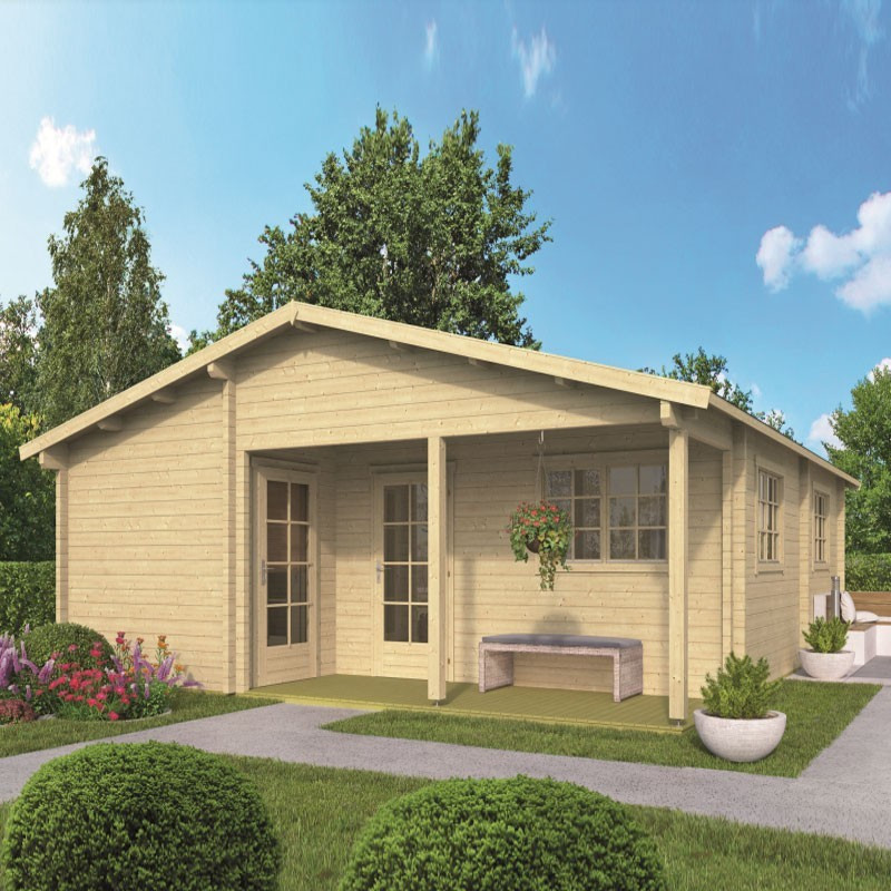 Chalet Ardee 44,3 m² - Thickness 70mm - Tuindeco