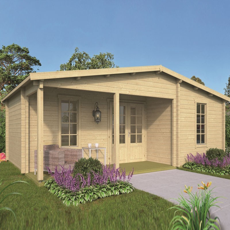 Chalet Ollie 25,2 m² - Thickness 70mm - Tuindeco