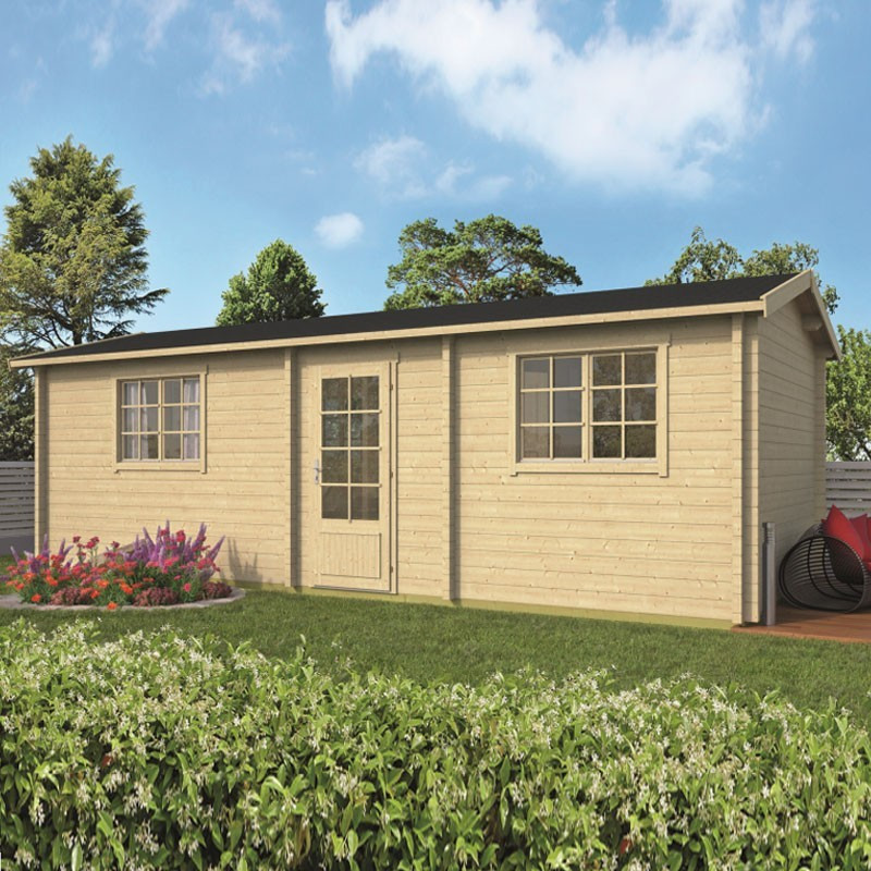 Chalet Ava 24 m² - Thickness 70mm - Tuindeco