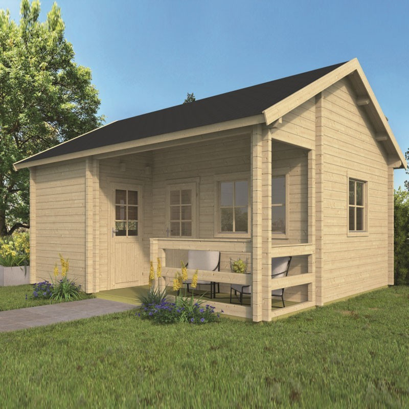 Chalet Edelweiss 28,40 m² - Thickness 70mm - Tuindeco