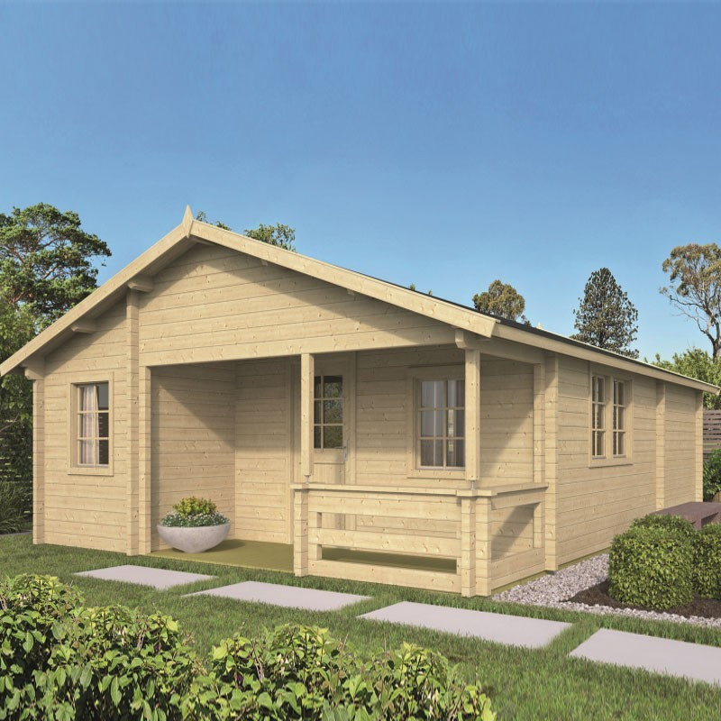 Chalet Kay 44,8 m² - Thickness 70mm - Tuindeco