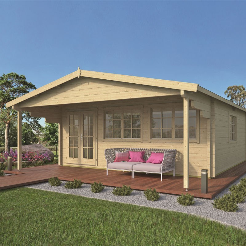 Chalet Rune 33m² - Thickness 70mm - Tuindeco