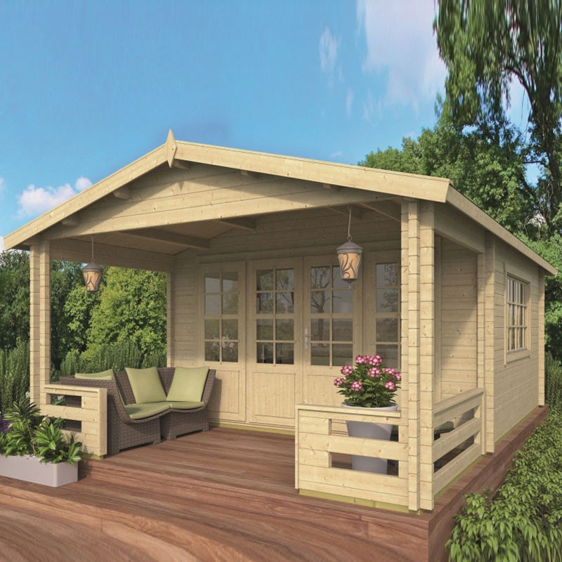 Chalet Nottingham 21.80m² - Thickness 58mm - Tuindeco