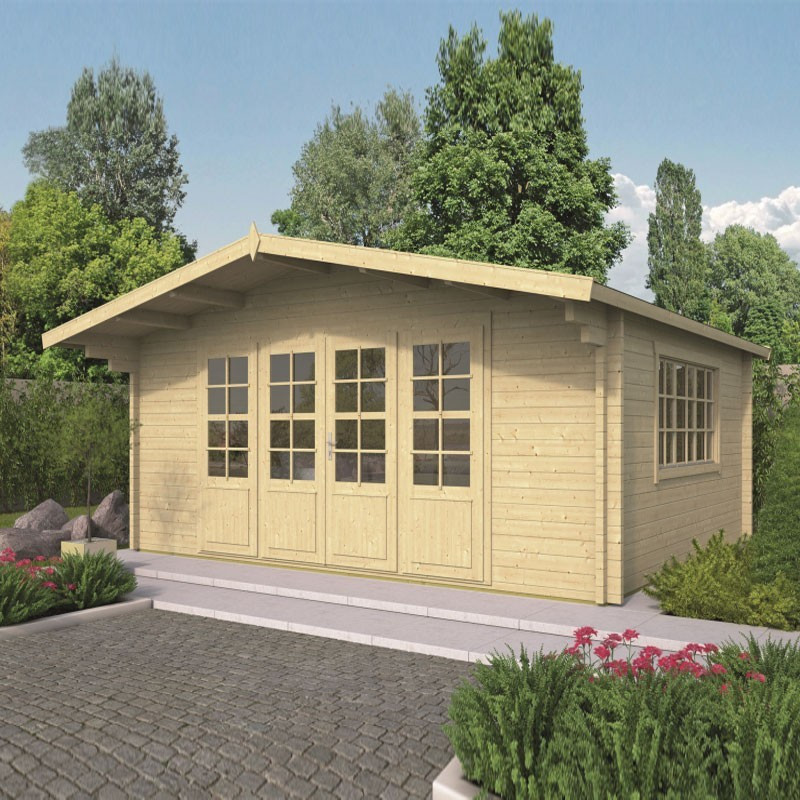 Chalet Newcastle 21.80m² - Thickness 58mm - Tuindeco