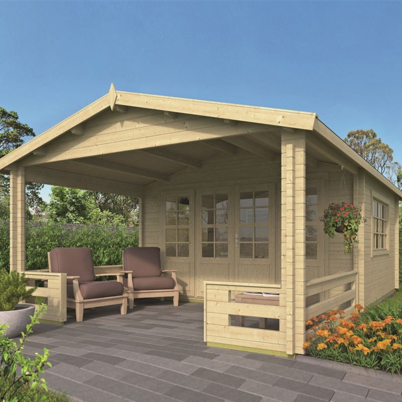 Chalet Watford 27m² - Thickness 58mm - Tuindeco