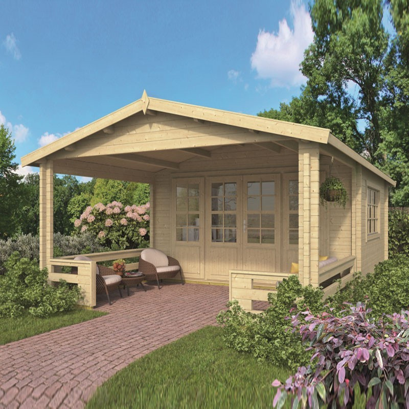Chalet Leeds 17.6m² - Thickness 58mm - Tuindeco
