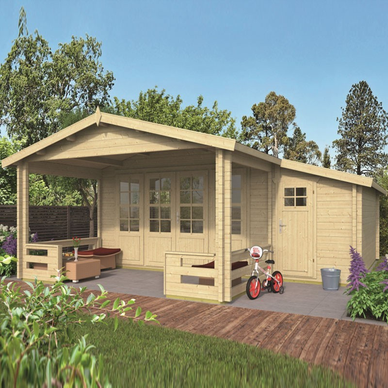 Chalet Liverpool 27m² - Thickness 58mm - Tuindeco