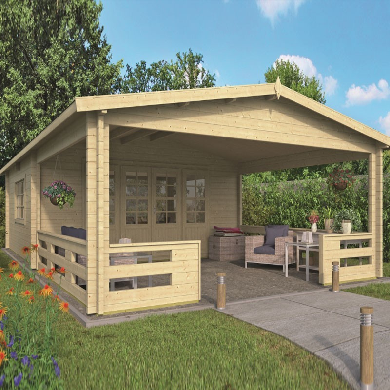 Chalet Sheffield 27m² - Thickness 58mm - Tuindeco