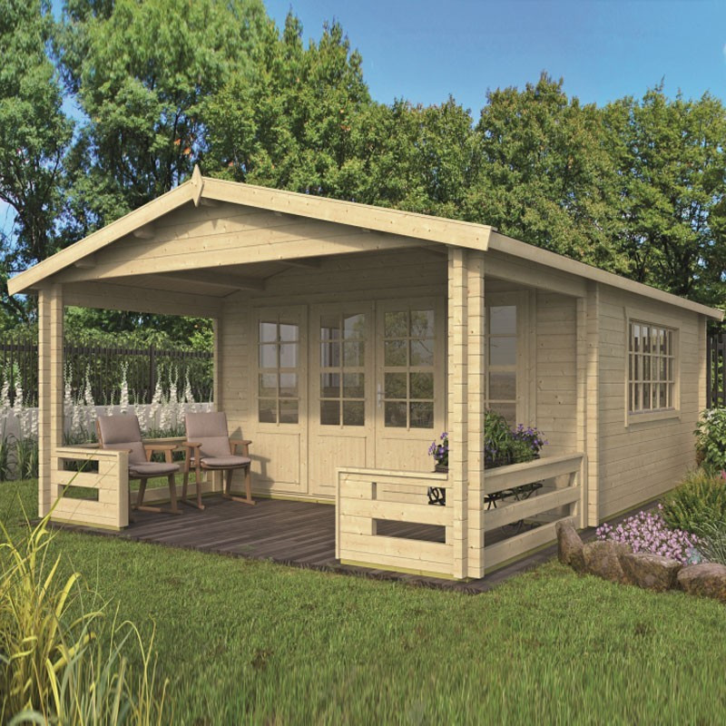 Chalet Wigan 27m² - Thickness 58mm - Tuindeco