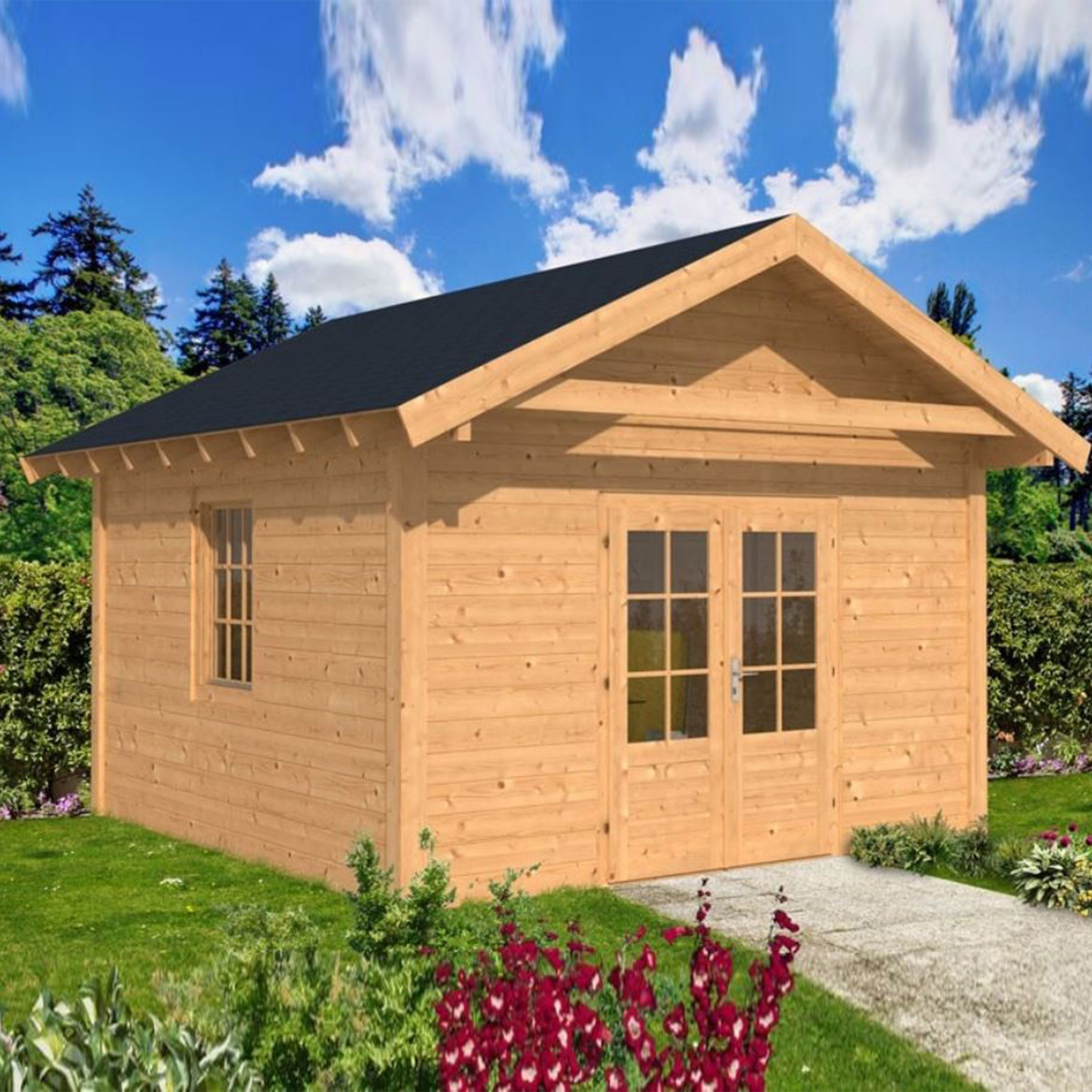 Garden shed Tubbergen untreated cladding - Tuindeco