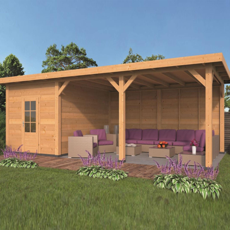 Garden shed Twello larch- Douglas fir siding - Untreated - Tuindeco